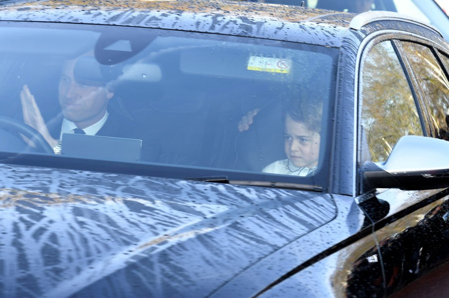 Royal Family Arrives at Queen Elizabeth's Annual Christmas Lunch With Prince George in the Front Seat