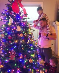 Sean Lowe and Catherine Giudici Celebrity Kids Helping Pick and Decorate Christmas Trees