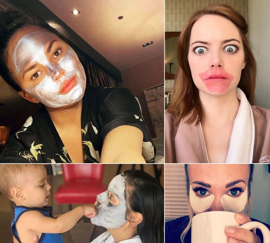 Stars Wearing Beauty Masks