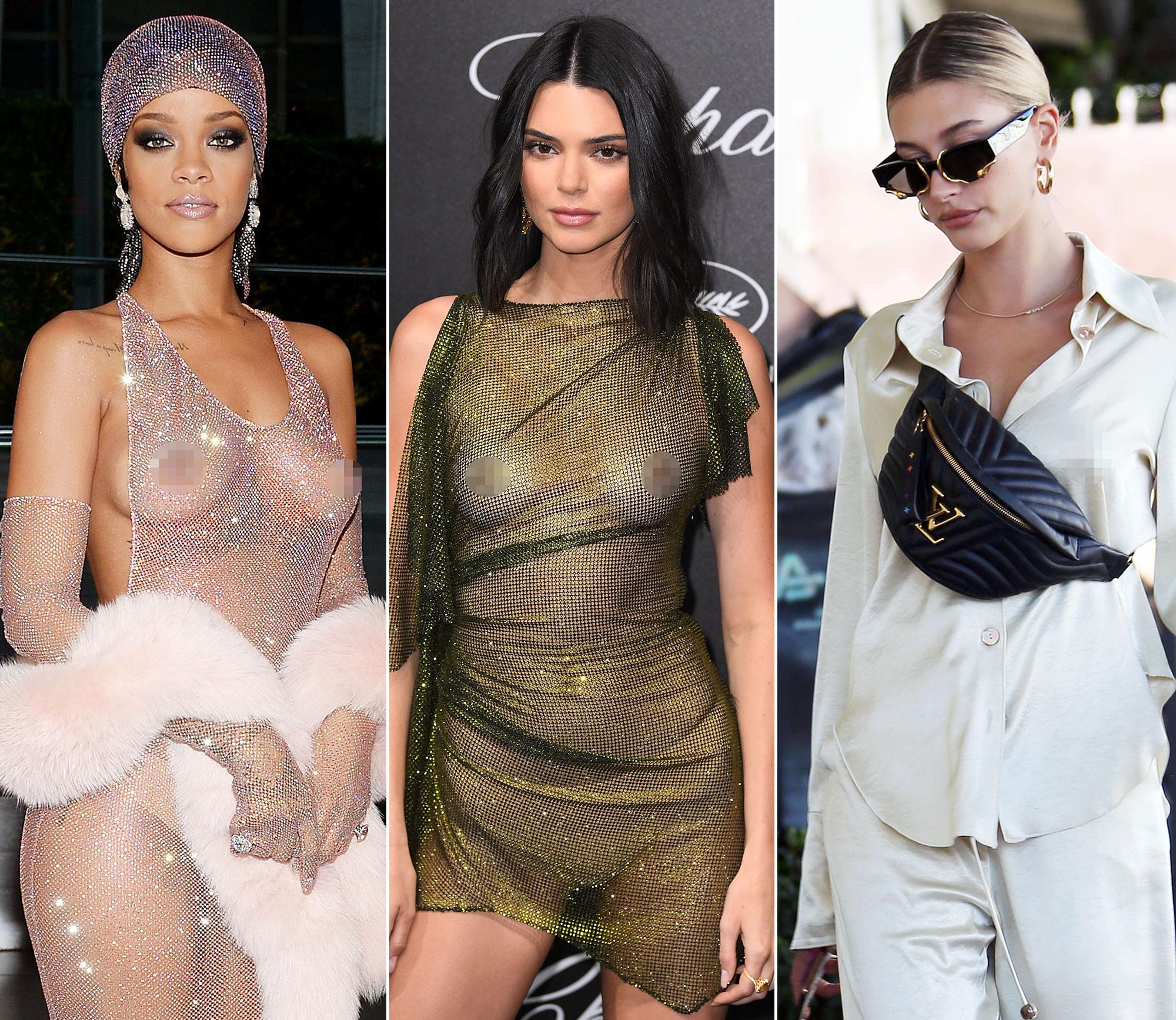 Nipples rihanna Rihanna proudly