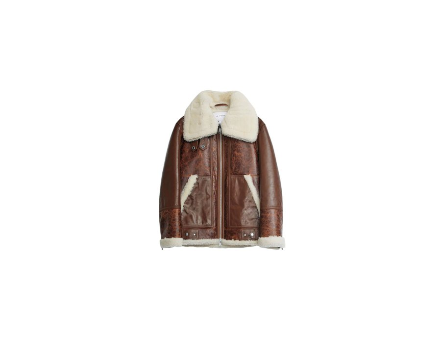 The Arrivals Shearling Moto Jacket Buzzzz o Meter
