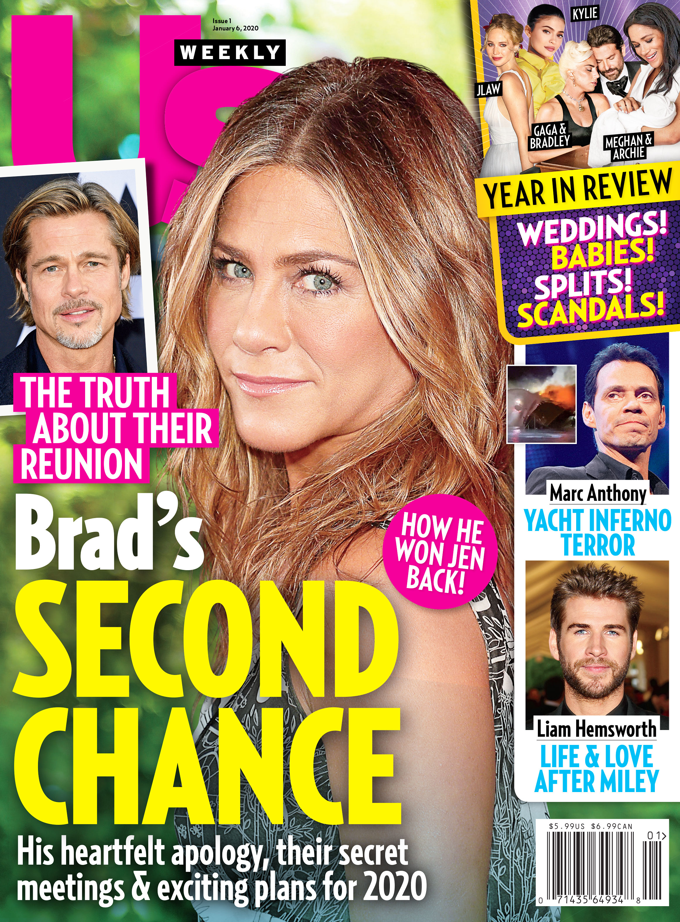 Us Weekly Cover Issue 0120 Jennifer Aniston Brads Second Chance