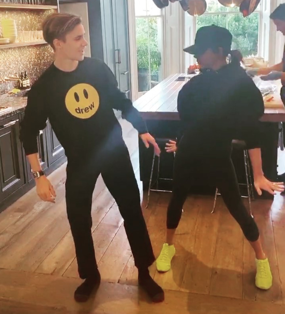 Victoria Beckham Does Spice Girls Choreography With Son Romeo