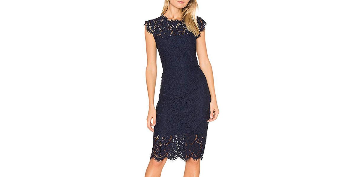 MEROKEETY Women's Sleeveless Lace Cocktail Dress