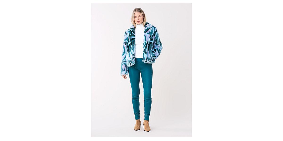 DVF x Apparis Tracy Faux Fur Coat