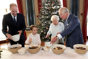 Prince George Makes Christmas Pudding in Sweet Pics With Dad William, Queen, Prince Charles