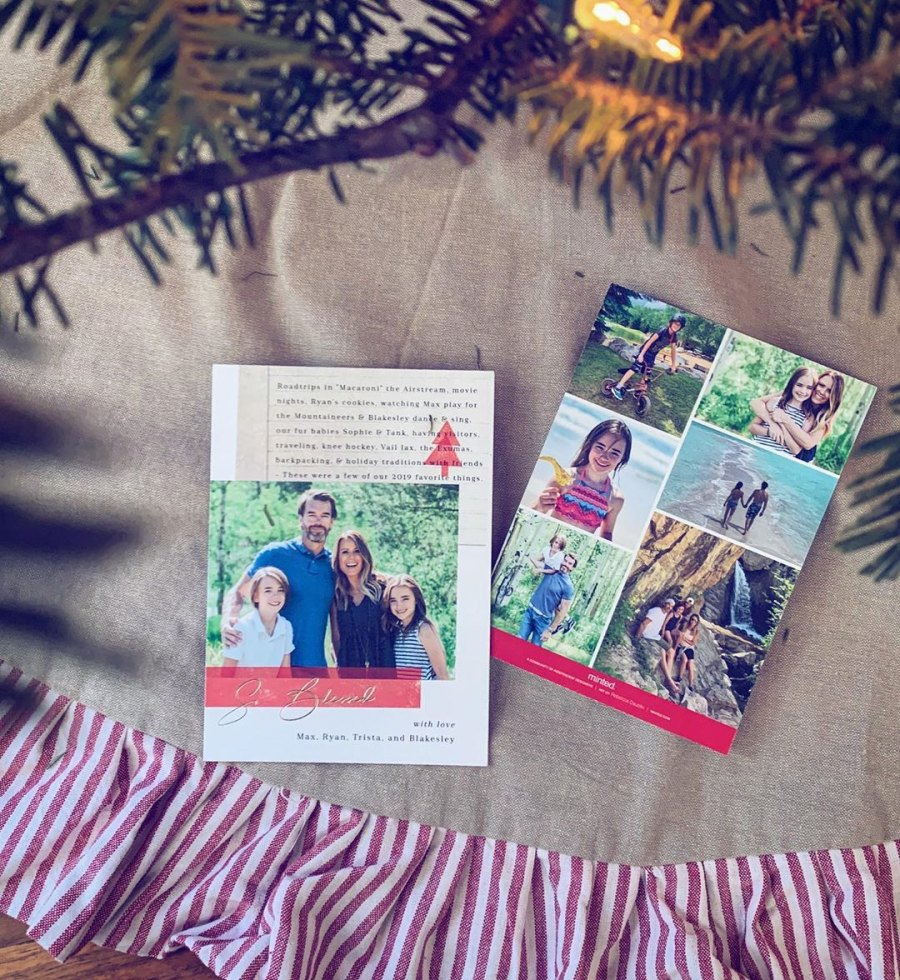 Trista Sutter Christmas Cards of 2019