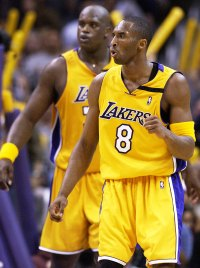 Kobe Bryant and Shaquille O'Neal Playing for the Lakers in 2003 Kobe Bryants Life in Pictures