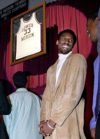 Kobe Bryants High School Jersey is Retired Kobe Bryants Life in Pictures