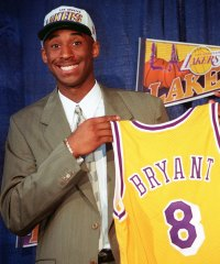 Kobe Bryant Holding His Jersey Kobe Bryants Life in Pictures
