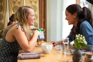 women talking with noom app