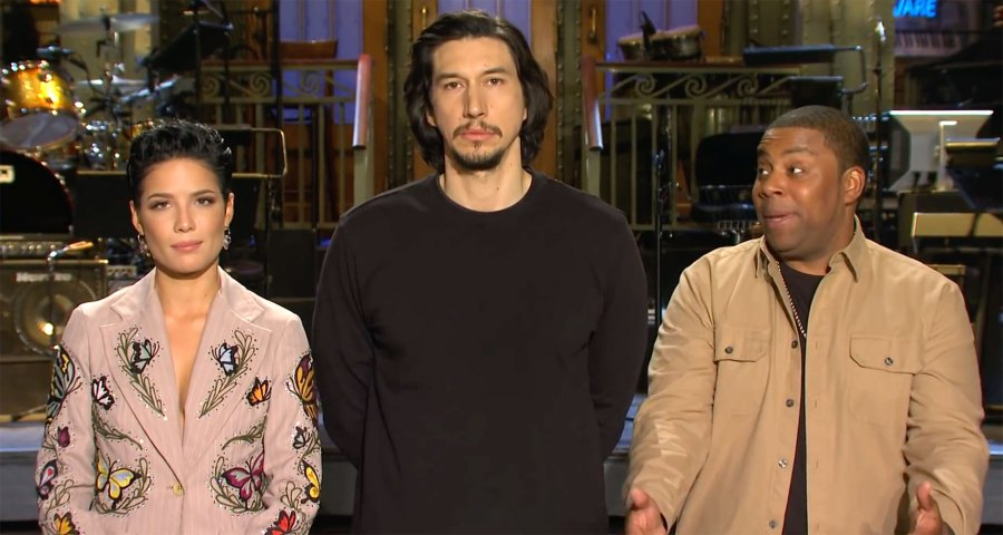 Adam Driver and Halsey Saturday Night Live