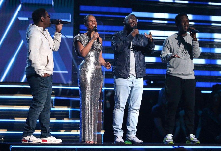 Alicia Keys and Boyz II Men Kobe Bryant Tribute Grammys 2020