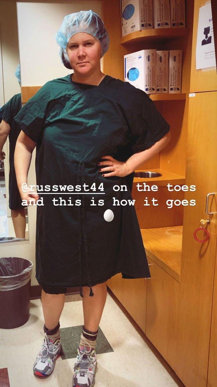 Amy Schumer Egg Retrieval Day IVF Journey