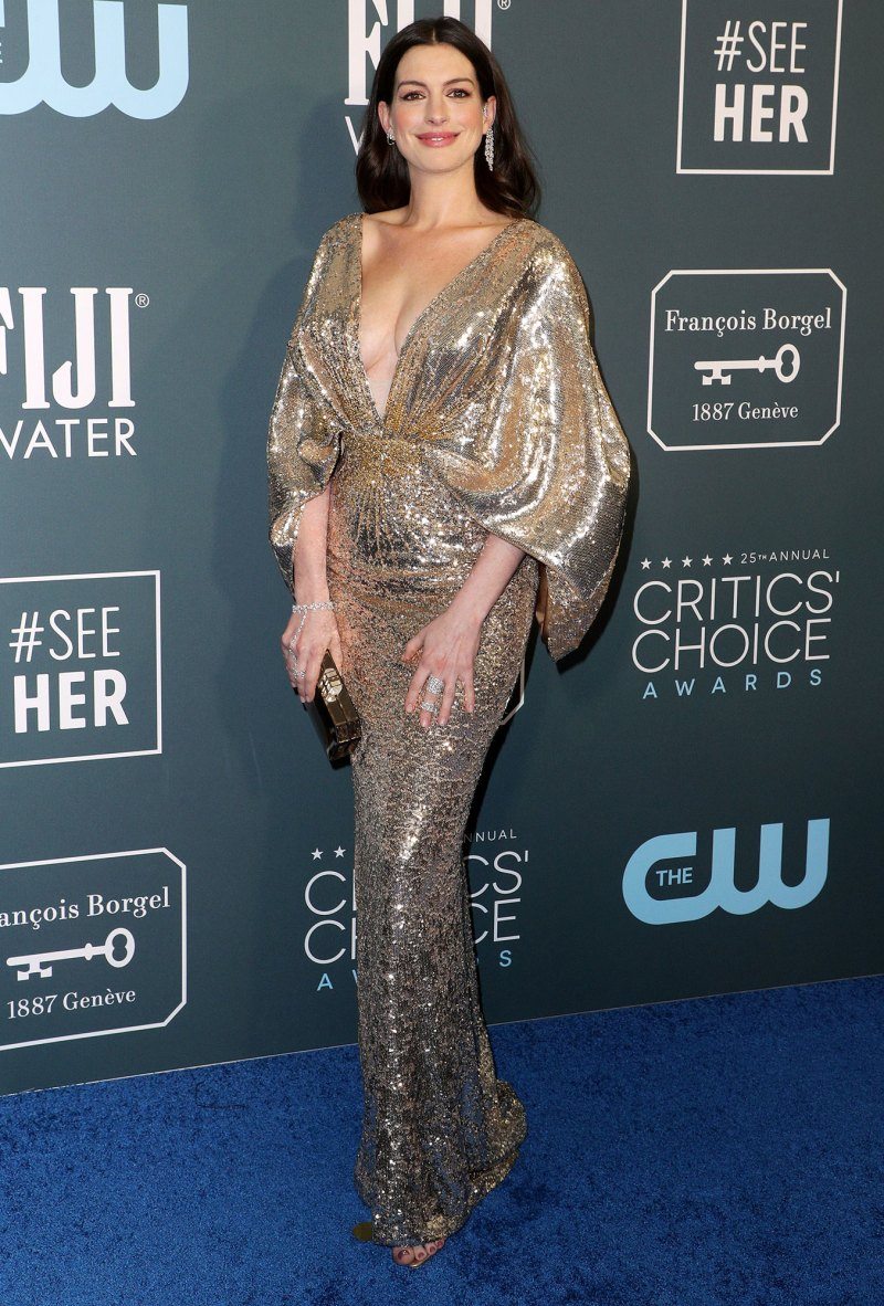 Image result for anne hathaway critics choice awards 2020