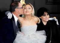 Ariana Grande and her parents Stars Who Brought Family Members to the Grammys 2020