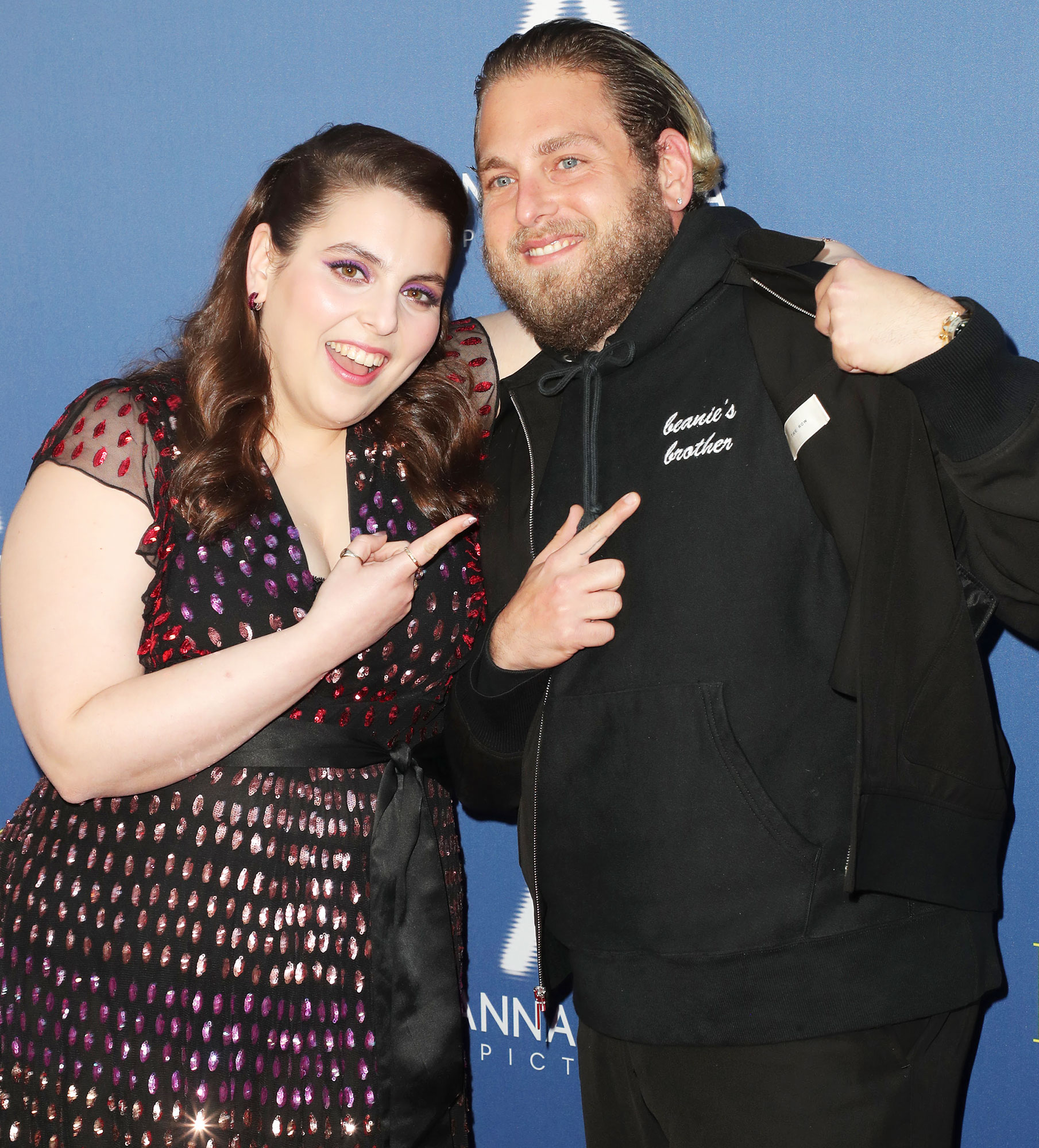 Beanie Feldstein and Jonah Hill at the Booksmart Premiere Beanie Feldstein Gushes Over Jonah Hill's Engagement Before Golden Globes 2020