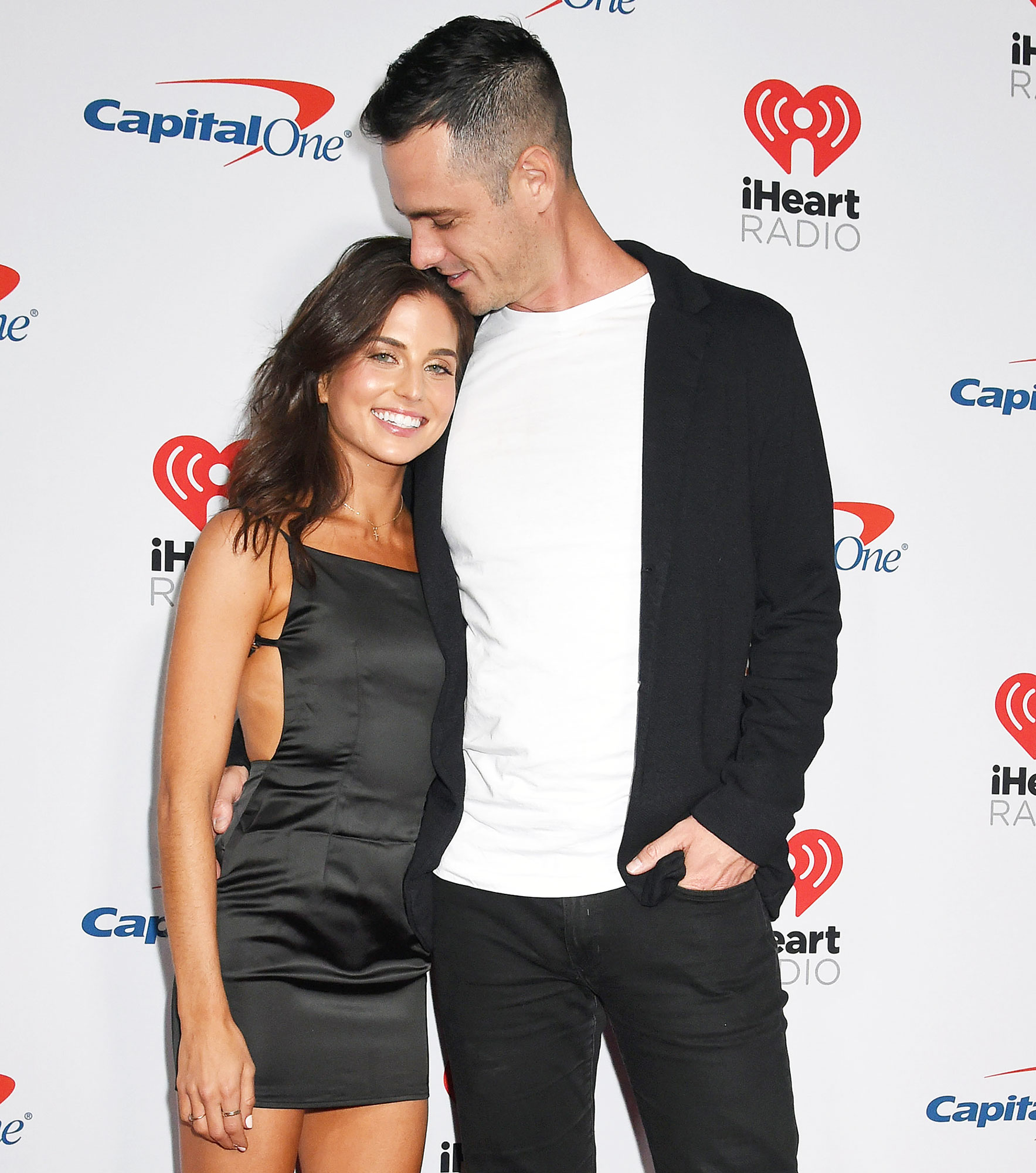 Jess Clarke and Ben Higgins attend the iHeartRadio Music Festival Ben Higgins Says He Is Definitely Getting Engaged to Girlfriend Jess Clarke in 2020