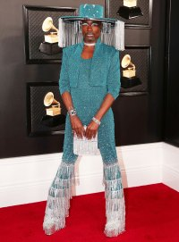 Billy Porter Steals the Red Carpet in a Fringe Hat That Opens and Closes at Grammys 2020