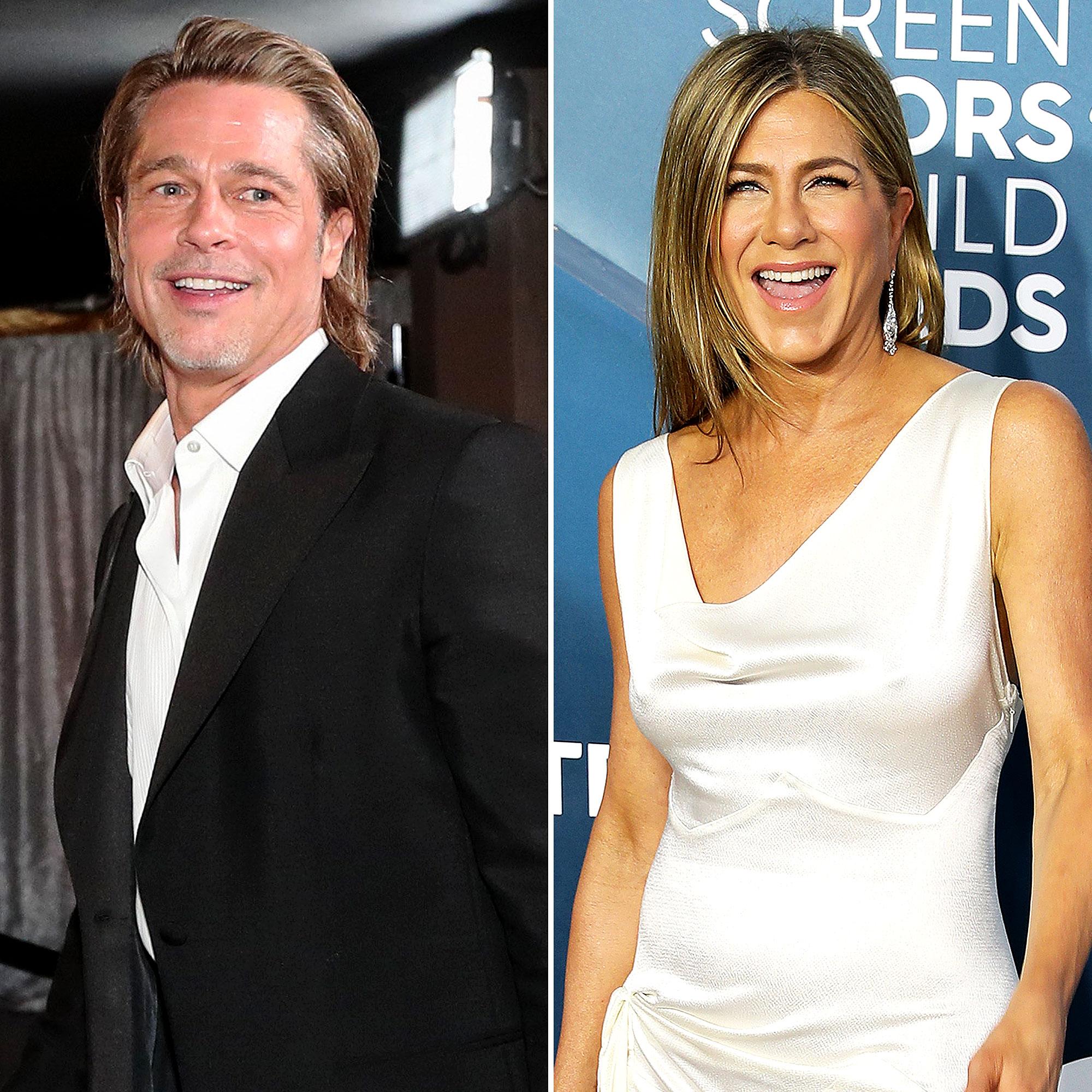 Sag Awards 2020 Brad Pitt Yelled Aniston To Get Jen S Attention
