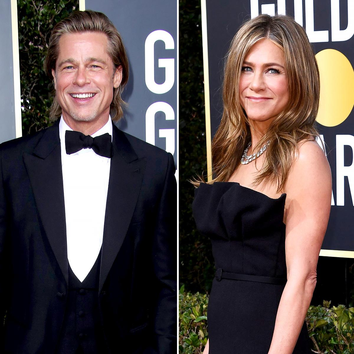 Brad Pitt Jennifer Aniston Good Friends Golden Globes 2020