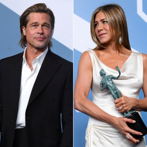 Brad Pitt Reacts to Hoopla Caused by His SAG Awards Reunion With Jennifer Aniston