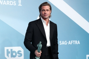 Brad Pitt Says He'll Celebrate Awards Show Season With His Kids