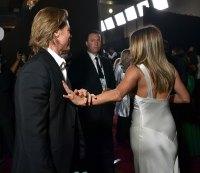 Brad Pitt and Jennifer Aniston Backstage SAG Awards 2020