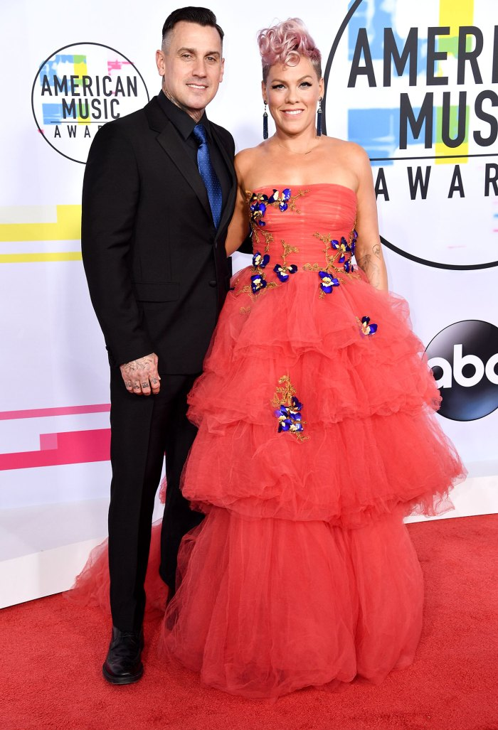 Carey Hart and and Pink American Music Awards