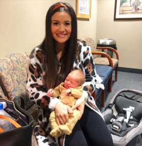Catherine Giudici Overdoes it After Giving Birth to Daughter Mia: I Made a 'Bad Mistake'