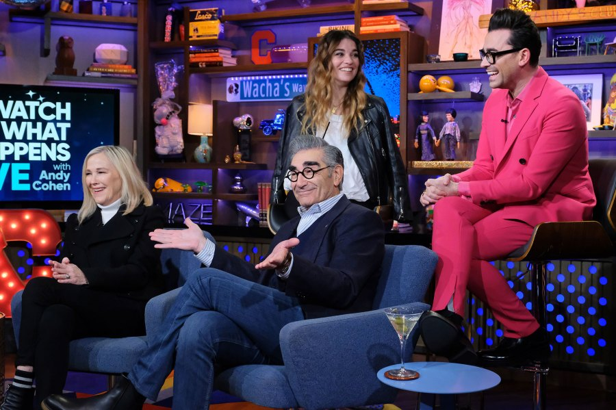 Catherine O'Hara, Eugene Levy, Annie Murphy, Daniel Levy Watch What Happens Live Used To Date