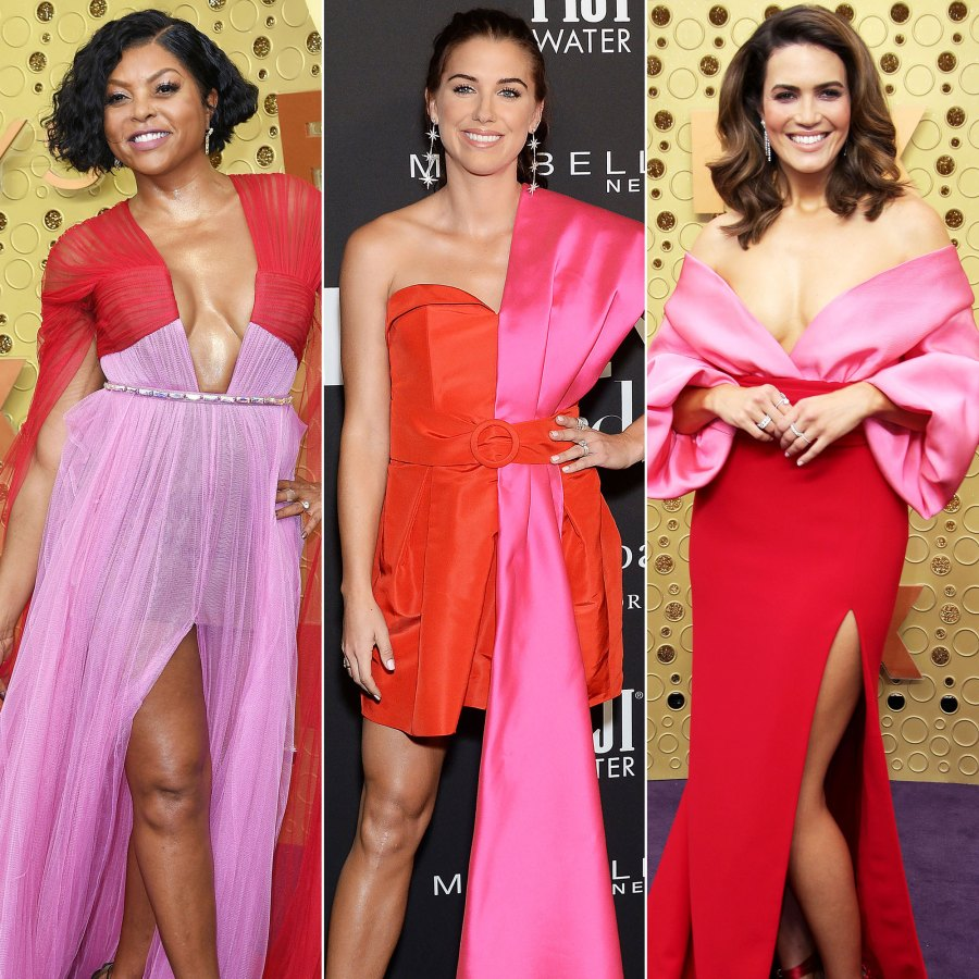 Celebs Wearing Red and Pink