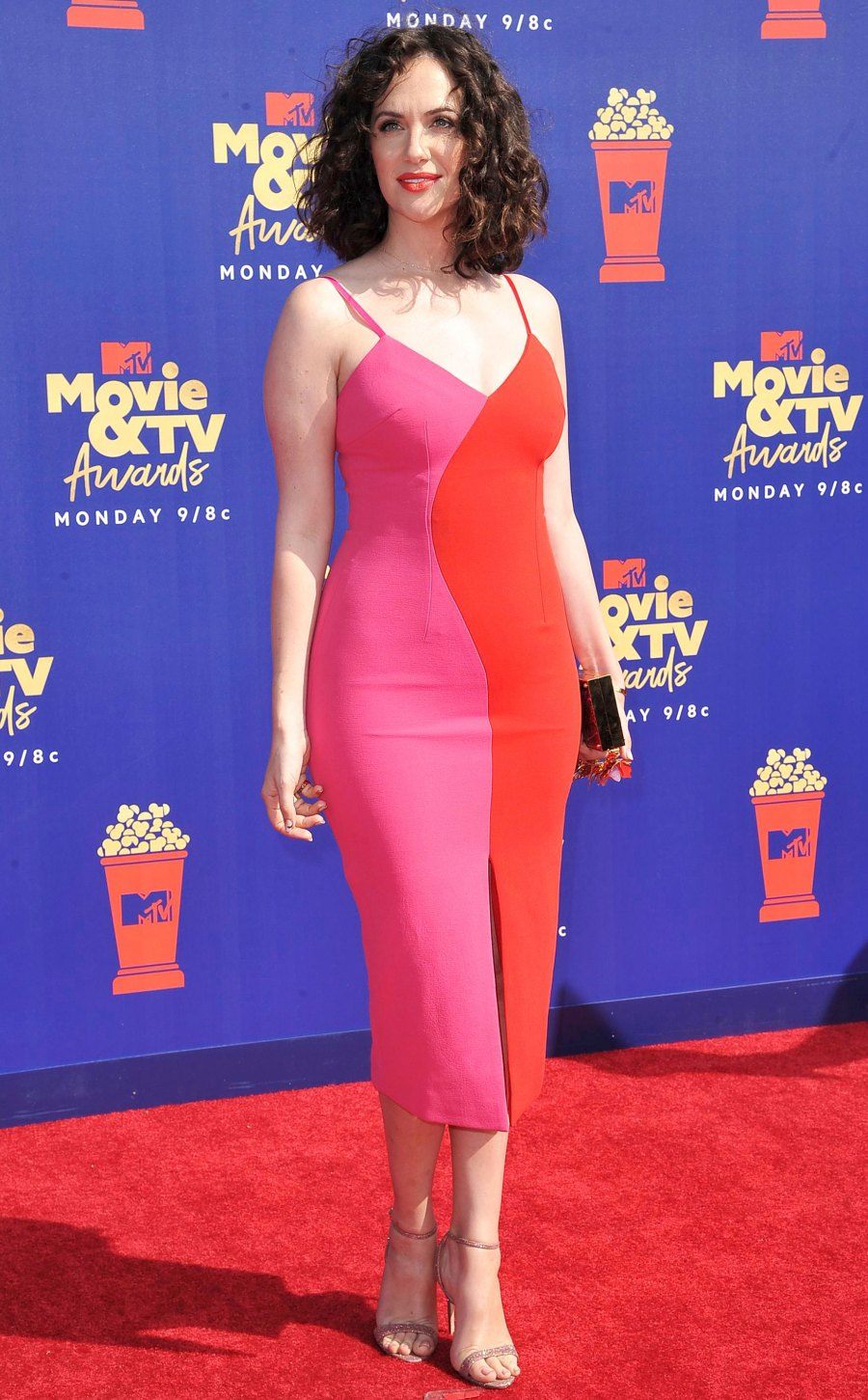 Celebs Wearing Red and Pink - Katie Siegel