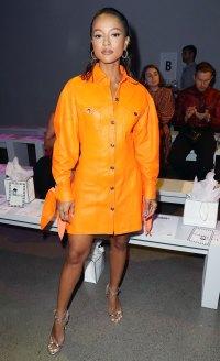 Celebs Wearing Orange - Karrueche Tran