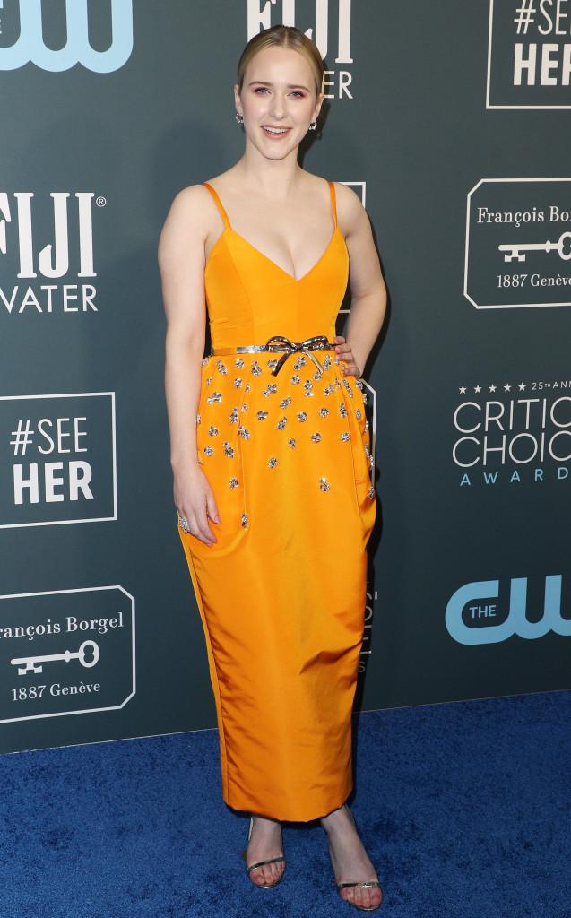 Celebs Wearing Orange - Rachel Brosnahan