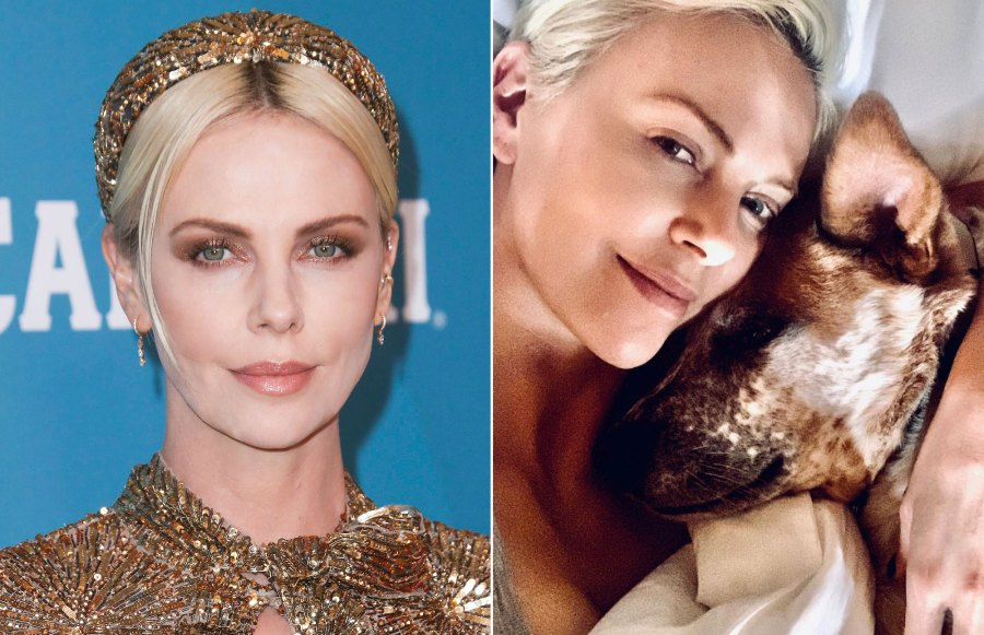 Charlize Theron Makeup-Free Instagram