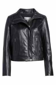This Elegant Take On a Leather Moto Jacket Is Miraculously Under $200!