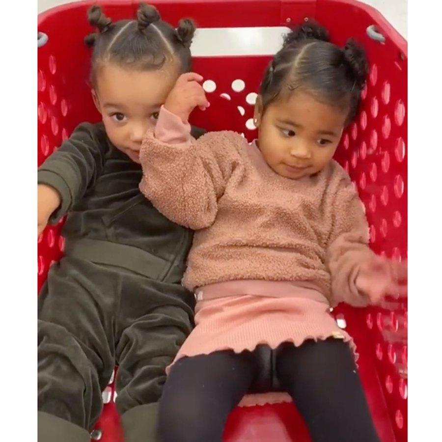 Chicago West's Baby Album Chicago and True were all smiles spinning in a Target cart