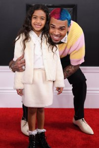 Chris Brown and Royalty Brown Family Grammys 2020
