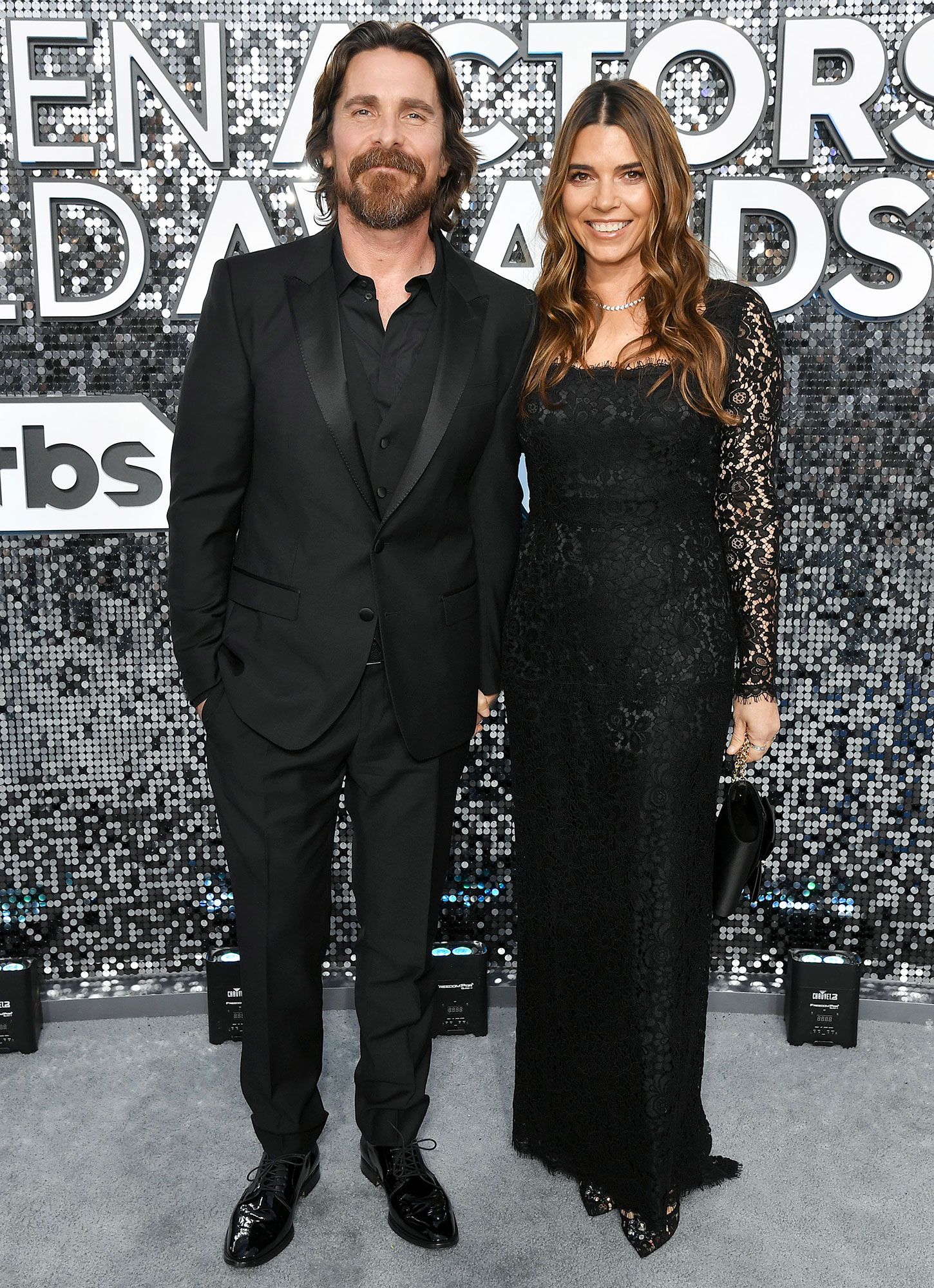 Christian Bale Makes Red Carpet Return With Wife Sibi Blazic at 2020 SAG Awards After Illness