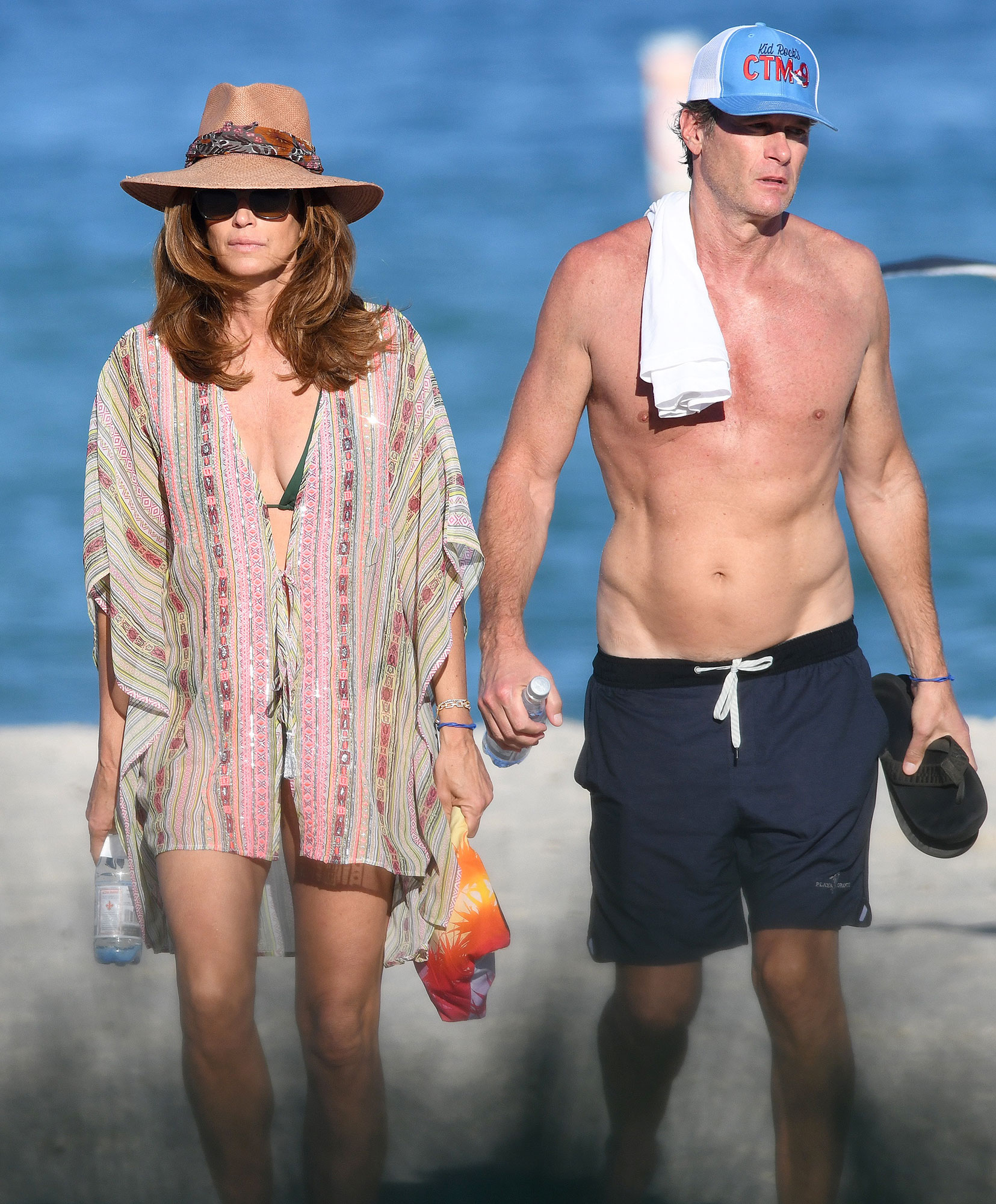 Cindy Crawford Shows Off Bikini Body With Rande Gerber In Miami