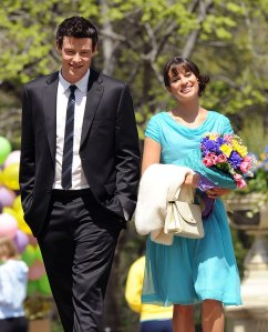 "Cory Monteith and Lea Michele on ""Glee"""