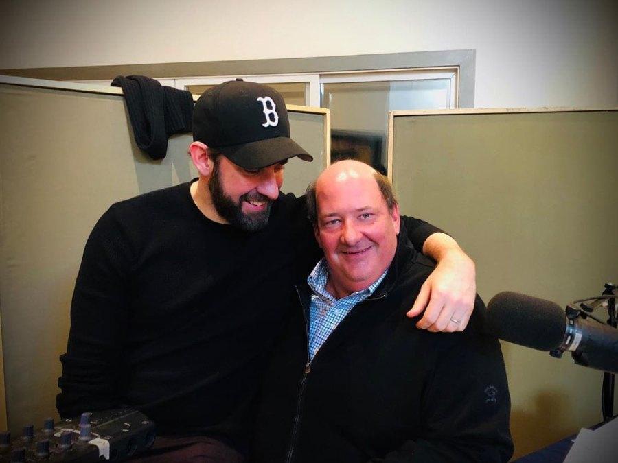 Costars Reunited John Krasinski and Brian Baumgartner