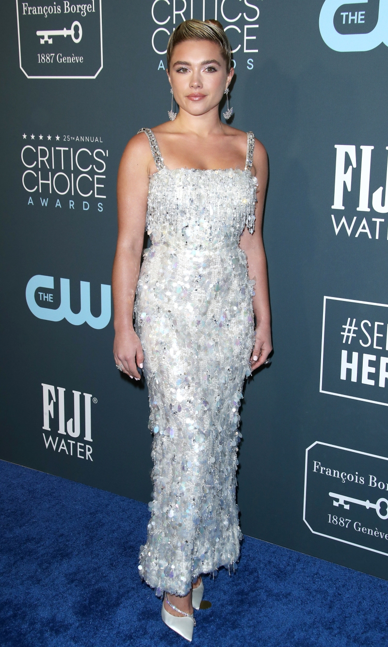 Florence Pugh Fat >> Critics Choice Awards 2020 Red Carpet Fashion Celebs In