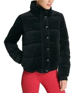 DKNY Sport Velour Puffer Jacket (Black)