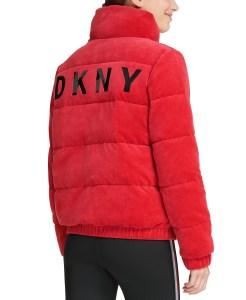 DKNY Sport Velour Puffer Jacket (Murano)
