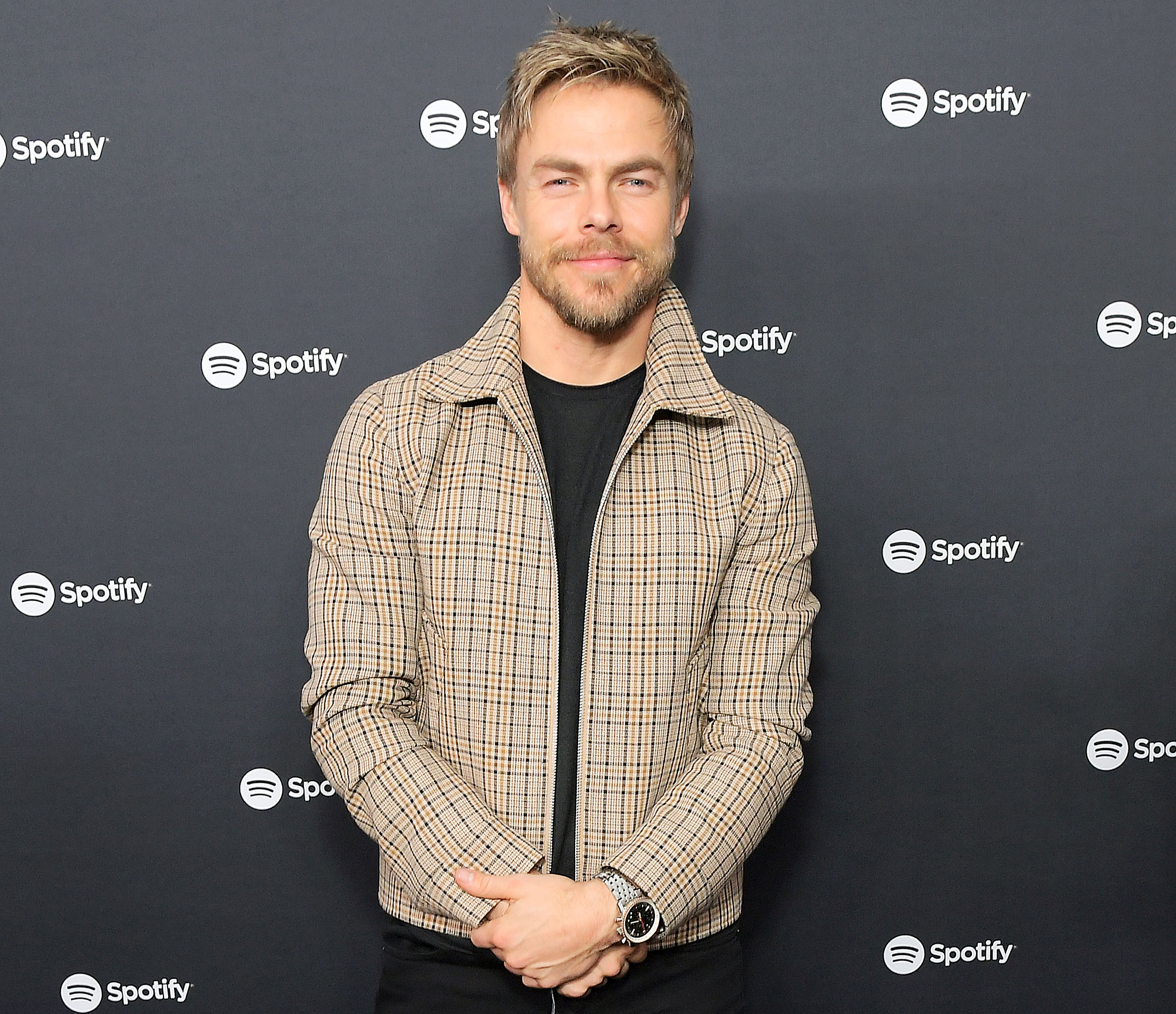 Derek Hough Attends Spotifys Best New Artist Party Derek Hough Says Sister Julianne Hough Is Crushing It Amid Brooks Laich Issues
