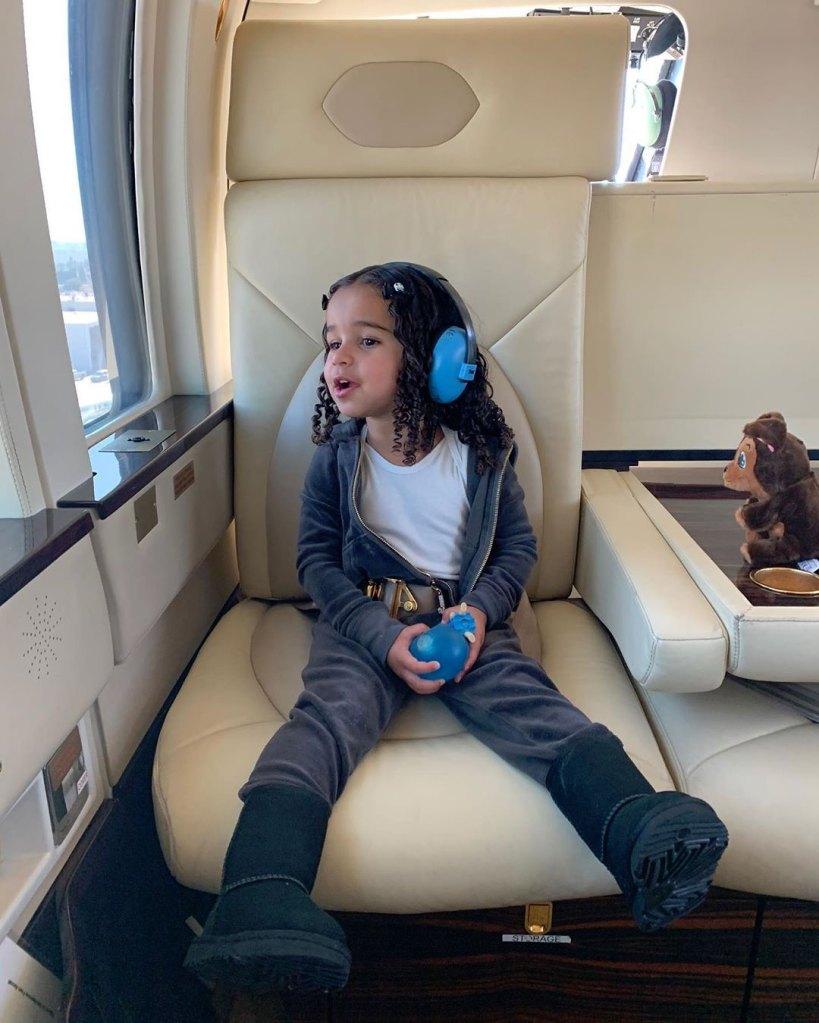 Dream Kardashian Airplane Instagram