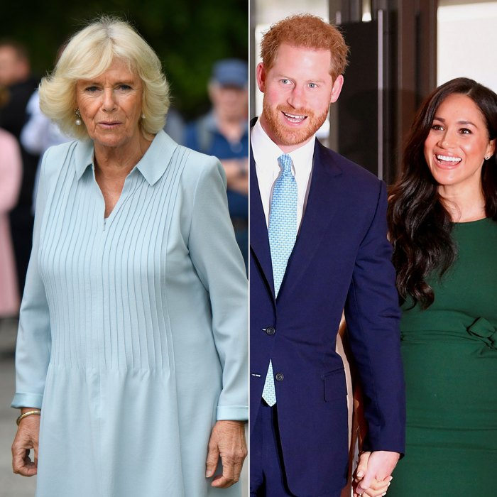 Duchess Camilla Appears Caught Off Guard When Asked If She Will Miss Prince Harry and Meghan Markle