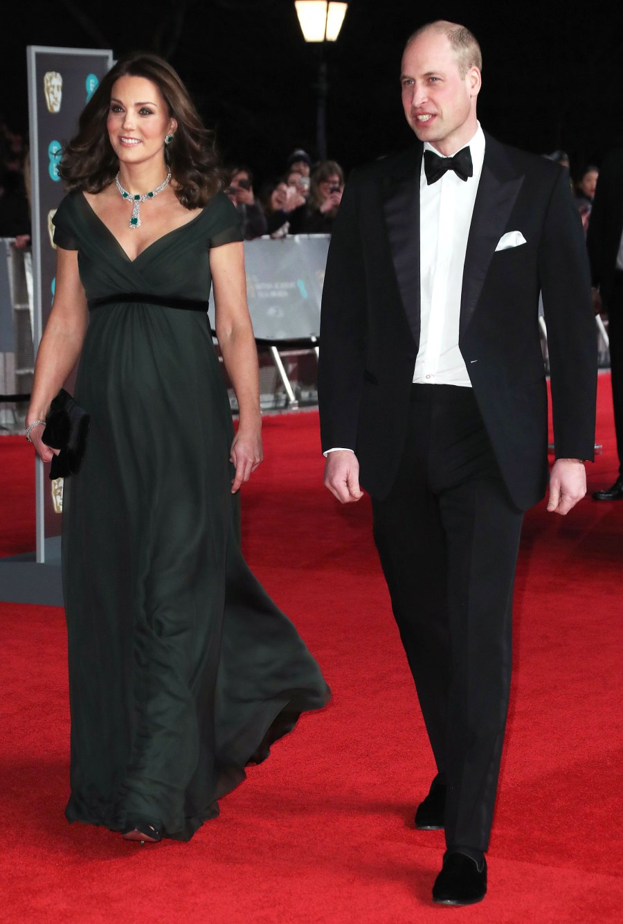Duchess Kate and Prince William BAFTA Awards Red Carpet Appearances - 2018